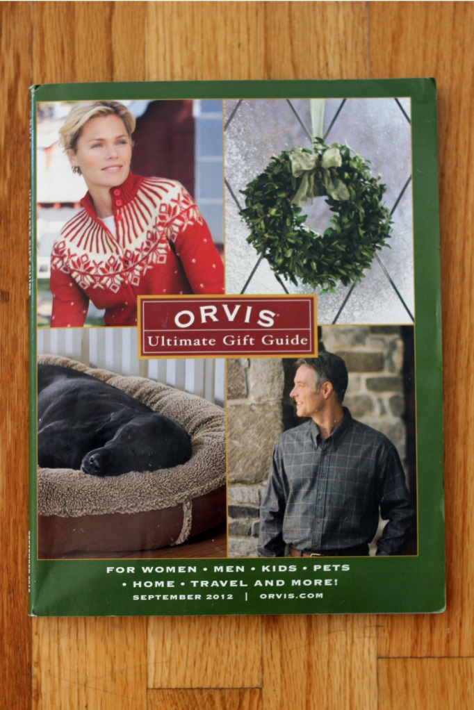 Biscuit is featured in Orvis' Holiday Catalog!