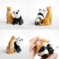 Cheetah and Panda Totem