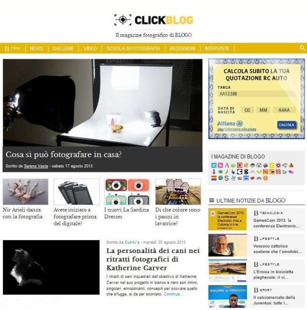 Click Blog Screen Shot 1